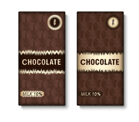 Set of chocolate bar package