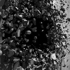 Eksplozja betonowej ściany - efekt 3D