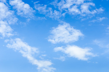 Sky and Cloud on clear day.