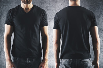Male in empty black t-shirt
