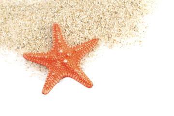 Sand and a starfish
