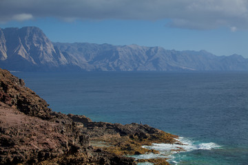 Beautiful mountains near the ocean