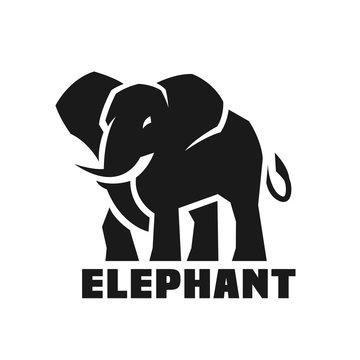 Elephant. Monochrome logo.