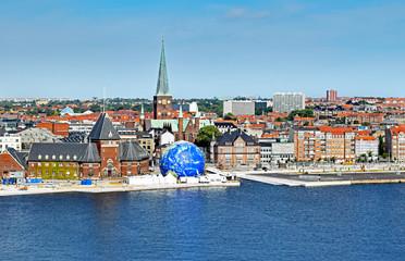 Cityscape of Aarhus in Denmark Wall mural