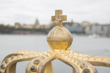 Golden Crown on Skeppsholm Bridge - Skeppsholmsbron; Stockholm