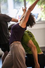 dancers improvise on jam