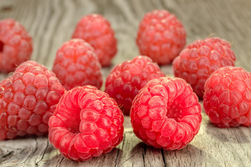 A beautiful selection of raspberries