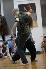 dancers improvise on jam dancers contact