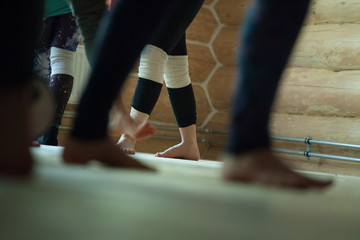 dancers foots, legs, on floor
