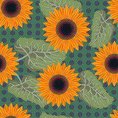 seamless pattern Graphic sunflower