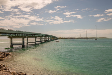 Bridge in the Keys. Exposure done in this beautiful island of the Keys, USA.