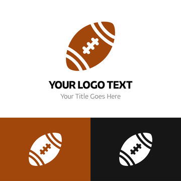 American football logo template. Logo branding for your new corporate company. File can be use vector eps and image jpg formats