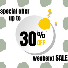 abstract weekend sale background