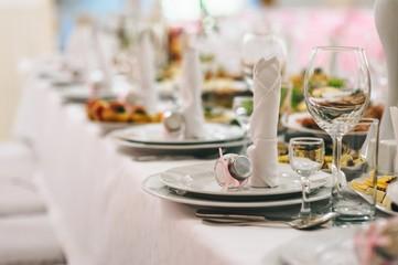 Restaurant before the wedding