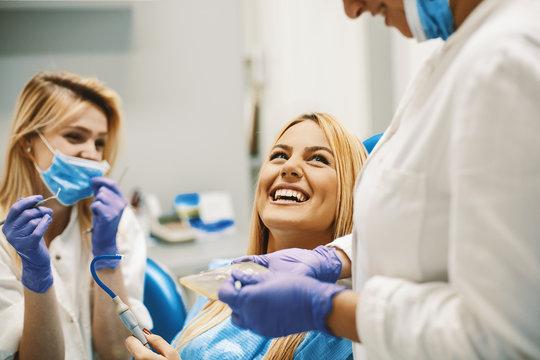 Woman in Dentist Office