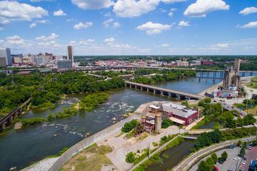 Aerial image of James River Richmond VA, USA