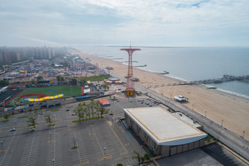 Aerial image of Coney Island