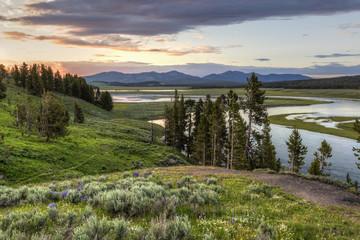 Yellowstone River Sunset