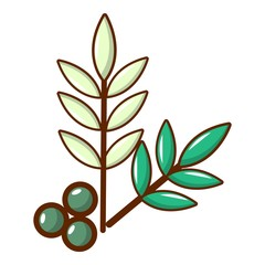 Olives icon, cartoon style