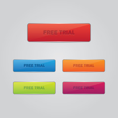 Set of Free Trial Buttons
