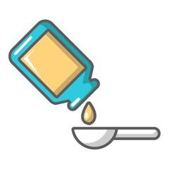 Medicine drops icon, cartoon style