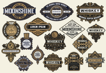 Mega pack of labels and banners