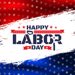 Happy Labor Day.America labor day for Greeting Card.Typography Labor Day Badges Design.Vector Labor Day Template.