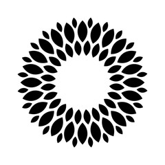 sun flower logo vector.
