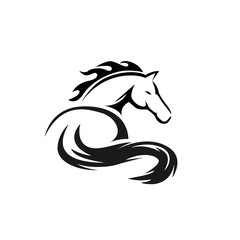 elegant drawing art horse