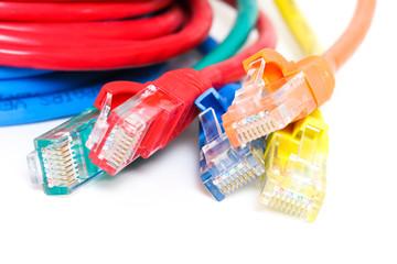 Bunte Netzwerkkabel