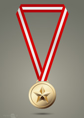 gold medals.vector