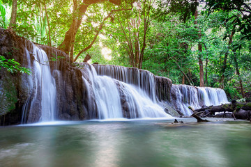 Beautiful waterfall  landscape in Thailand