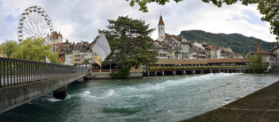 Thun, Aare in Switzerland