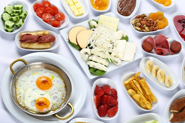 Rich and delicious breakfast table