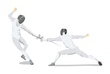 Fencing move illustration.