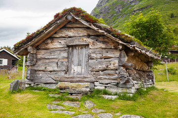 old wooden barn in Norway