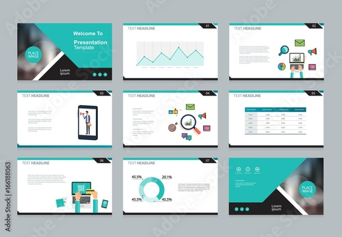 layout design template for business presentation brochure page