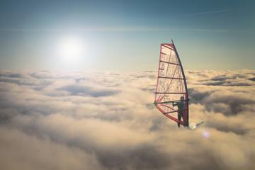 Faire de la planche à voile sur les nuage