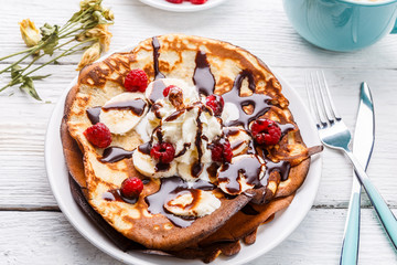 Photo of pancakes with chocolate