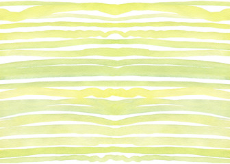 Seamless abstract creative stripes pattern, in greenery colors brush strokes.Design wave, image lines. Hand drawn watercolor painting on white background. Design for fabric, wrap paper or wallpaper.