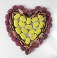 Heart shaped, Boiled Candys