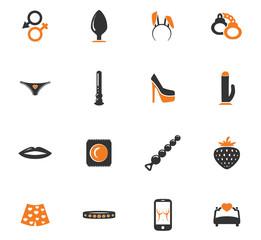 Sex shop icon set