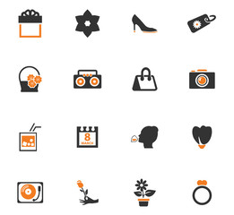 Women's Day icons set