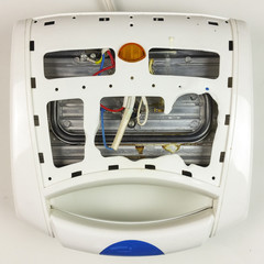 old broken eletric sandwich toaster - top view