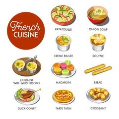 French cuisine menu