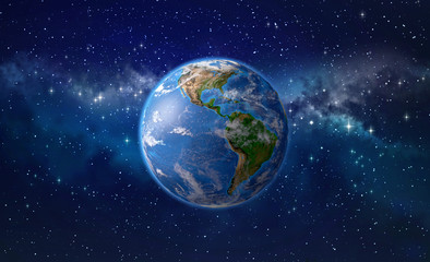 Planet earth in outer space Wall mural