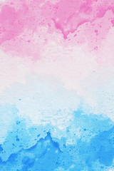 Photo of Abstract watercolor art on white background. Watercolor background