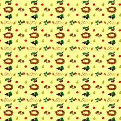 Seamless pattern of Fall