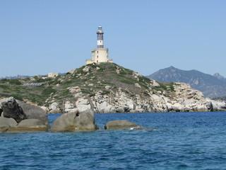 Il faro dell'Isola dei Cavoli. Sardegna