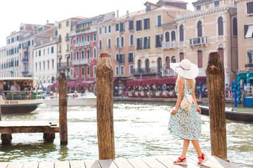 Portrait of cute girl in Venice